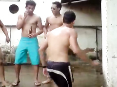 Some sexy dance by drunk amateur guys