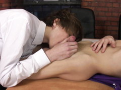 Intense twink fucking in the office got exposed