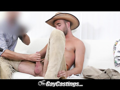 Naked twink Alex doing blow job and fucking