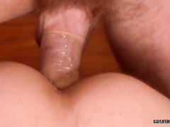 First time 3 some sex for a beautiful blond boy