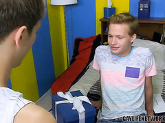 Anal fuck of two formidable twink lovers