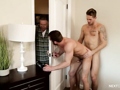 Wesley Woods and Jason Styles enjoy bareback